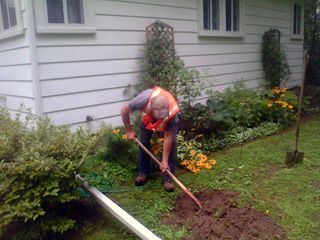 Digging for septic